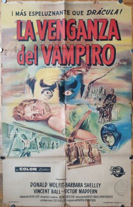 BLOOD OF THE VAMPIRE Argentinean movie poster
