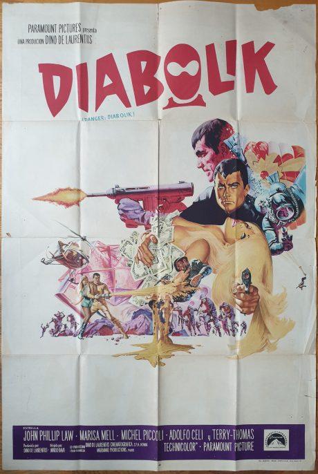 DANGER DIABOLIK Argentinean movie poster