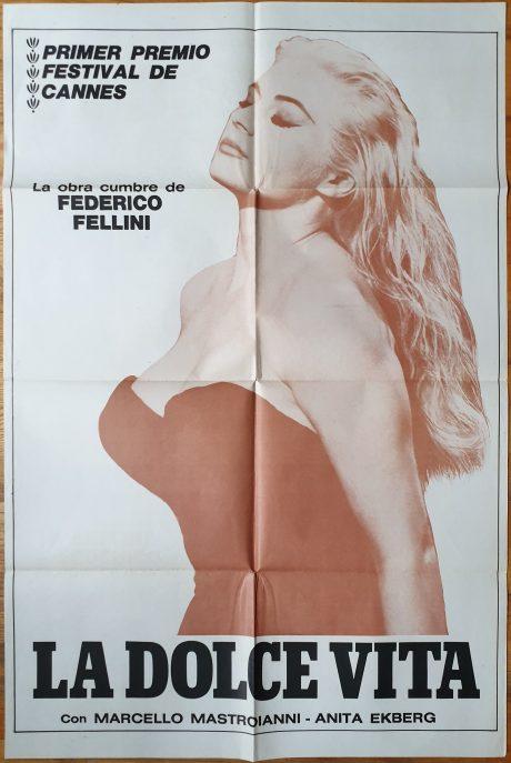 LA DOLCE VITA Argentinean movie poster