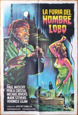 FURIA DEL HOMBRE LOBO Argentinean movie poster