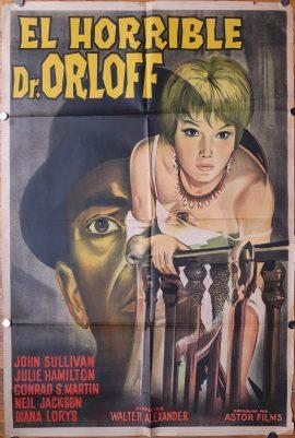 GRITOS EN LA NOCHE Argentinean movie poster