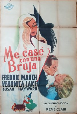 I MARRIED A WITCH Argentinean movie poster