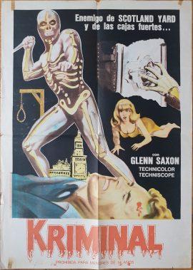 KRIMINAL Argentinean movie poster