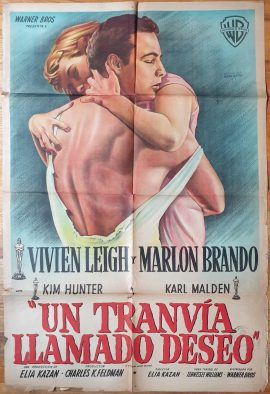 STREETCAR NAMED DESIRE Argentinean movie poster