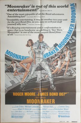 MOONRAKER review style US onesheet poster