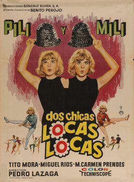 DOS CHICAS LOCAS LOCAS Mexican poster