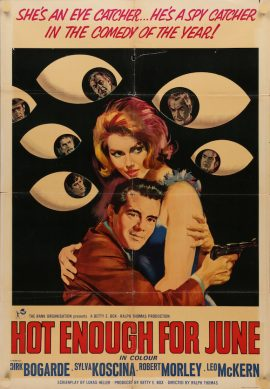 HOT ENOUGH FOR JUNE Italian poster