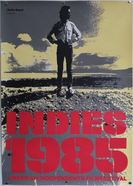 INDIES 1985 Dutch movie festival poster MOVIE★INK. AMSTERDAM