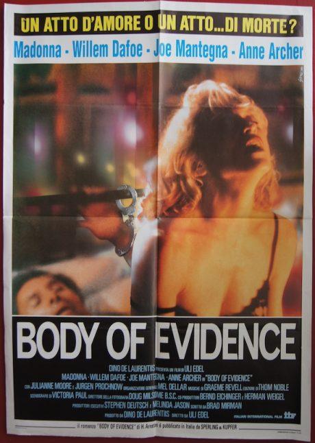 BODY OF EVIDENCE Italian due foglie movie poster