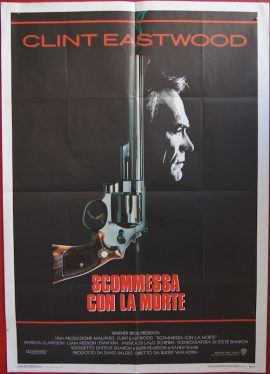 The DEAD POOL starring Clint Eastwood, original 1988 Italian poster