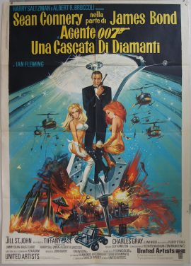 DIAMONDS ARE FOREVER, Sean Connery is James Bond, vintage Italian poster, MOVIE★INK. AMSTERDAM