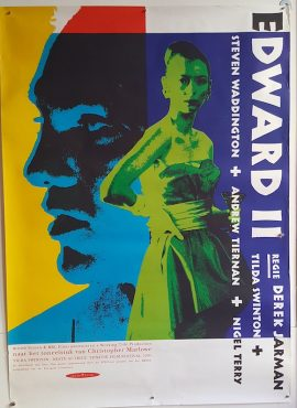 EDWARD II Dutch movie poster MOVIE★INK. AMSTERDAM
