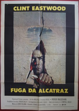 ESCAPE FROM ALCATRAZ, starring Clint Eastwood, vintage Italian movie poster, MOVIE★INK. AMSTERDAM