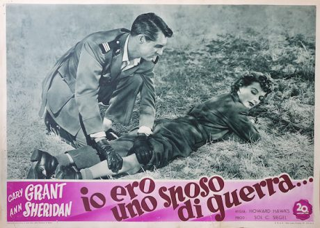 I WAS A MALE WAR BRIDE Italian fotobusta, 1949