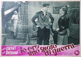 I WAS A MALE WAR BRIDE Italian fotobusta, 1949