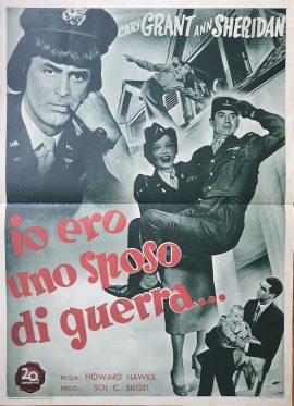 Cary Grant In Drag I WAS A MALE WAR BRIDE Italian fotobusta, 1949