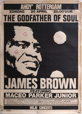 JAMES BROWN Dutch concert poster MOVIE★INK. AMSTERDAM