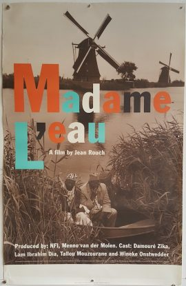 poster cinema verite MADAME L'EAU Dutch movie poster MOVIE★INK. AMSTERDAM