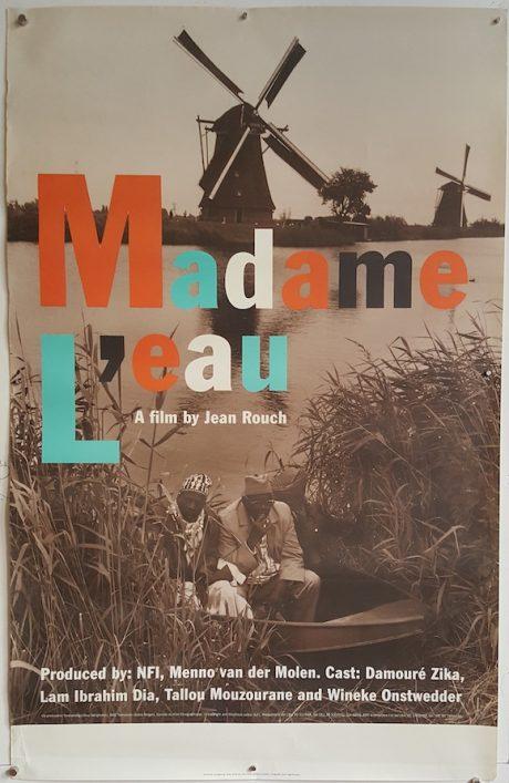 poster cinema verite MADAME L'EAU Dutch movie poster MOVIE★INK. AMSTERDAM