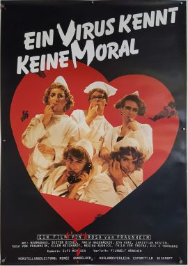 AIDS, EIN VIRUS KENNT KEINE MORAL Rosa von Praunheim German movie poster MOVIE★INK. AMSTERDAM