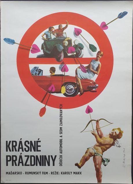 Cloudless Vacation Czech poster Karoly Makk MOVIE★INK. AMSTERDAM
