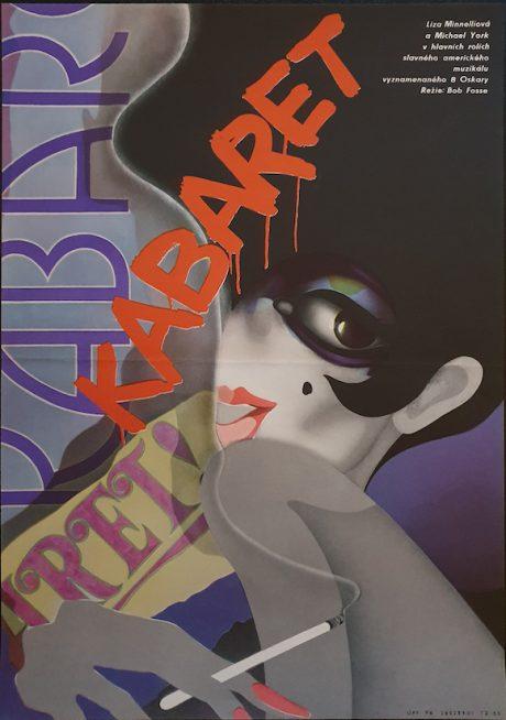 CABARET Czech poster MOVIE INK. AMSTERDAM