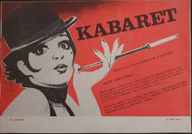 CABARET Czech flyer poster MOVIE INK. AMSTERDAM