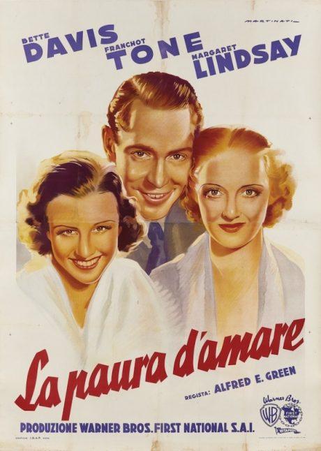 Bette Davis DANGEROUS Italian poster MOVIE★INK. AMSTERDAM