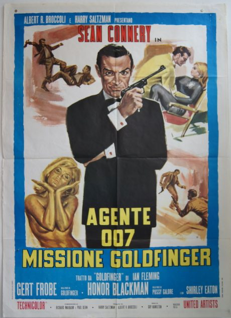 Sean Connery in Goldfinger Italian poster MOVIE★INK. AMSTERDAM
