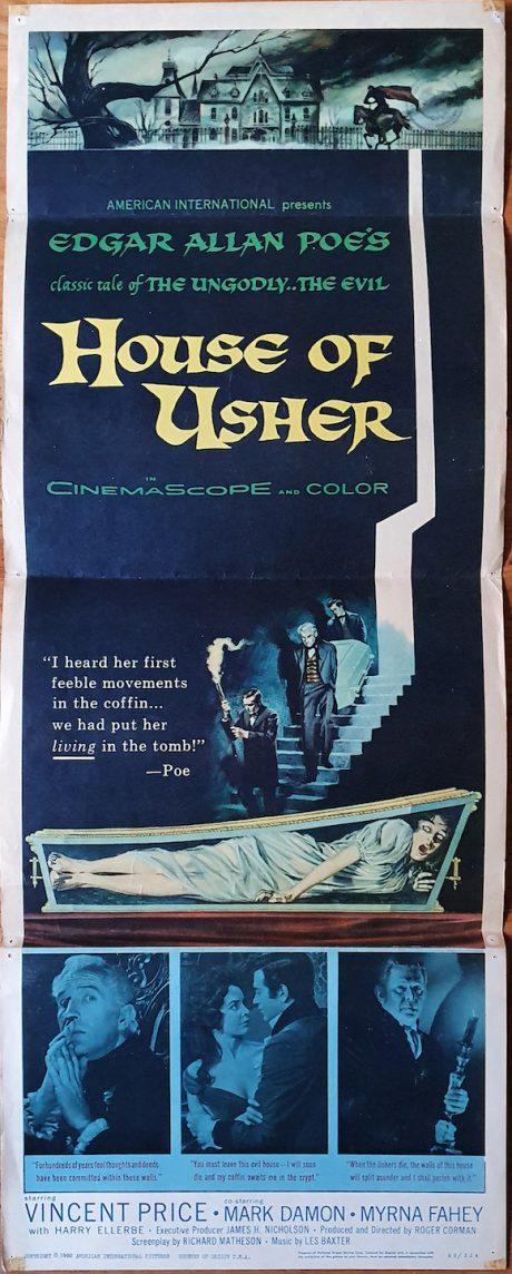 House of Usher Roger Corman Edgar Allan Poe MOVIE★INK. AMSTERDAM
