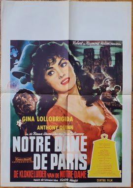 Gina Lollobrigida Hunchback Of The Notre Dame Dutch poster MOVIE★INK. AMSTERDAM