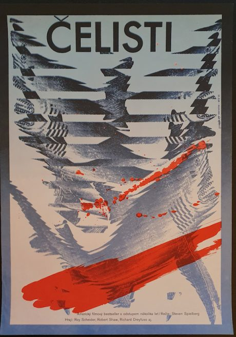 JAWS Czech poster MOVIE INK. AMSTERDAM