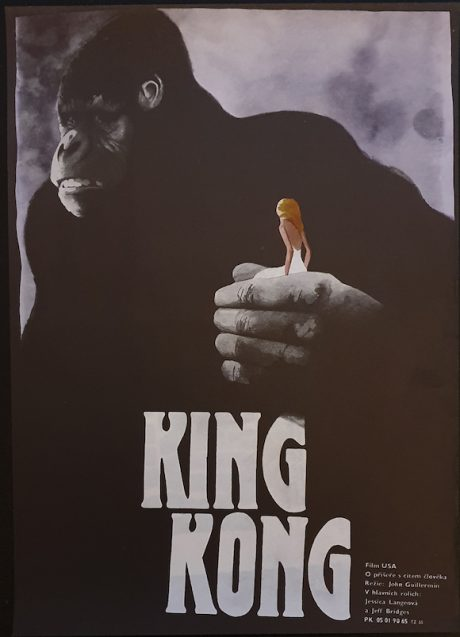 King Kong Czech small poster MOVIE★INK. AMSTERDAM