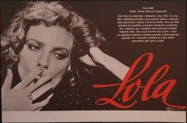 Lola Fassbinder Czech flyer poster MOVIE INK. AMSTERDAM