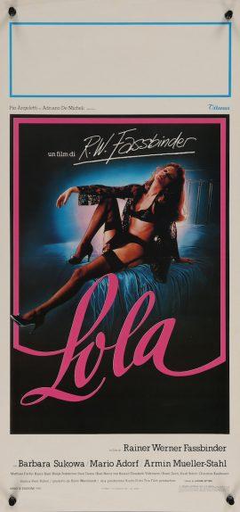 Lola Fassbinder Italian poster MOVIE INK. AMSTERDAM