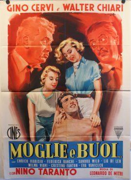 Walter Chiari in MOGLIE E BUOI Italian poster MOVIE★INK. AMSTERDAM