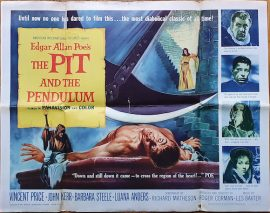 Vincent Price in Pit and the Pendulum halfsheet poster MOVIE★INK. AMSTERDAM