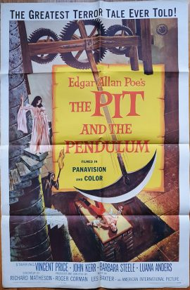 Vincent Price in Pit and the Pendulum onesheet poster MOVIE★INK. AMSTERDAM