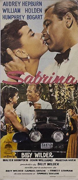 Audrey Hepburn SABRINA Italian poster MOVIE★INK. AMSTERDAM
