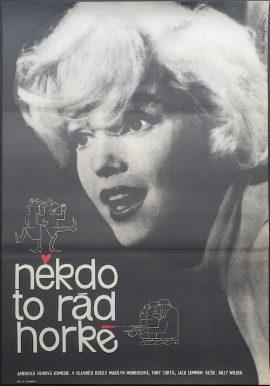 Marilyn Monroe Some Like It Hot Czech poster MOVIE★INK. AMSTERDAM