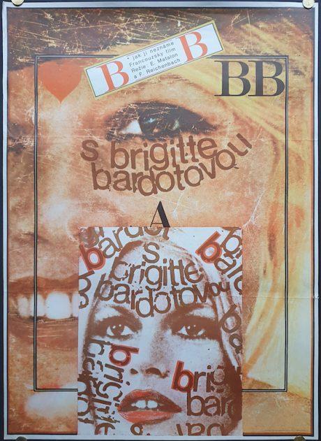 Brigitte Bardot Czech poster MOVIE★INK. AMSTERDAM