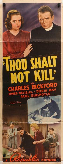Thou Shalt Not Kill insert MOVIE★INK. AMSTERDAM